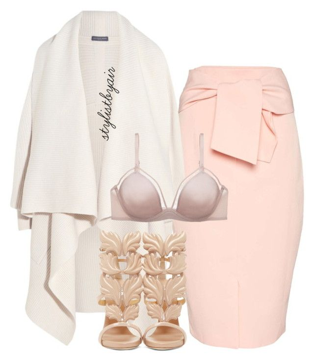 """""""Untitled #4021"""" by stylistbyair ❤ liked on Polyvore featuring moda, Topshop, Alexander McQueen, OnGossamer e Giuseppe Zanotti"""