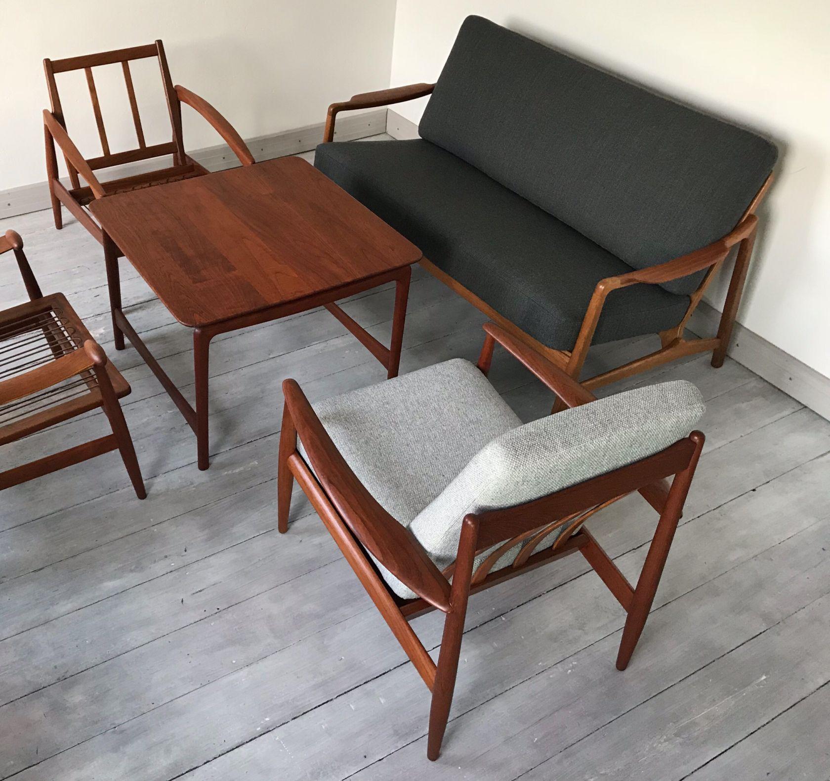 Grete Jalk Model Fd118 Teak Easy Chair For France And Daverkosen