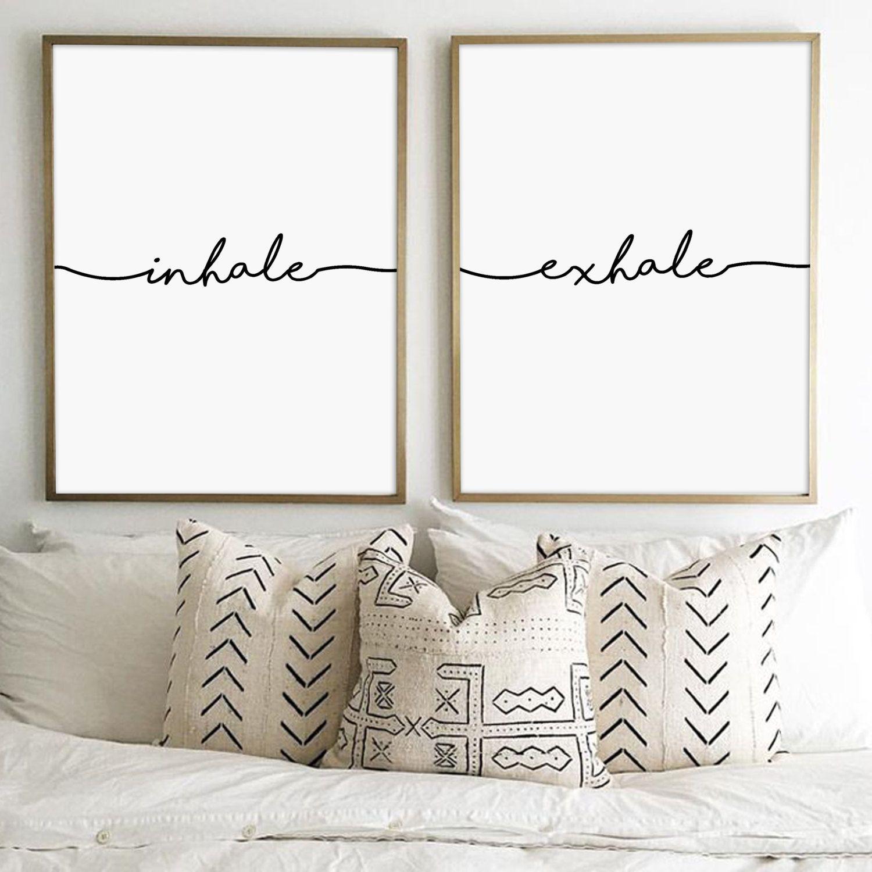 inhale exhale, inhale exhale print, pilates quote, yoga print ...