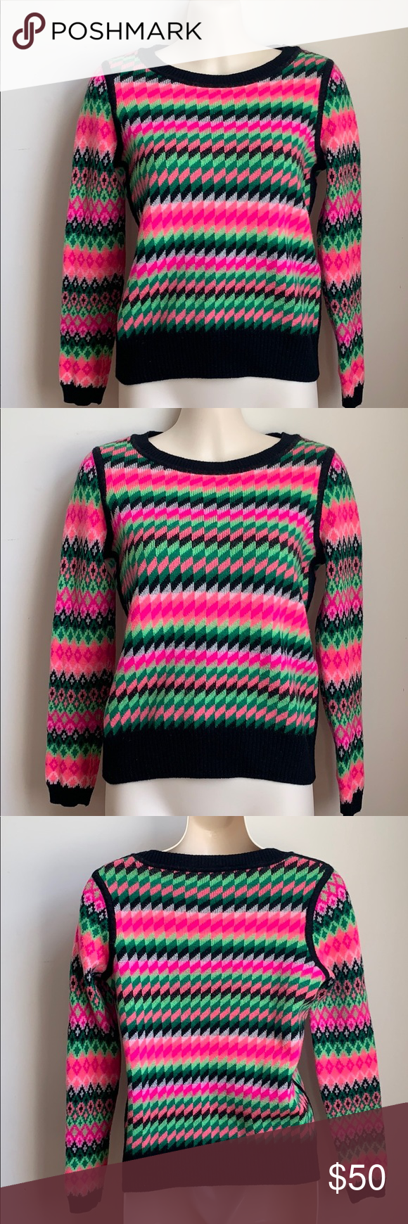 Milly Reversible Wool Kuji Sweater NWOT Small | Sweaters