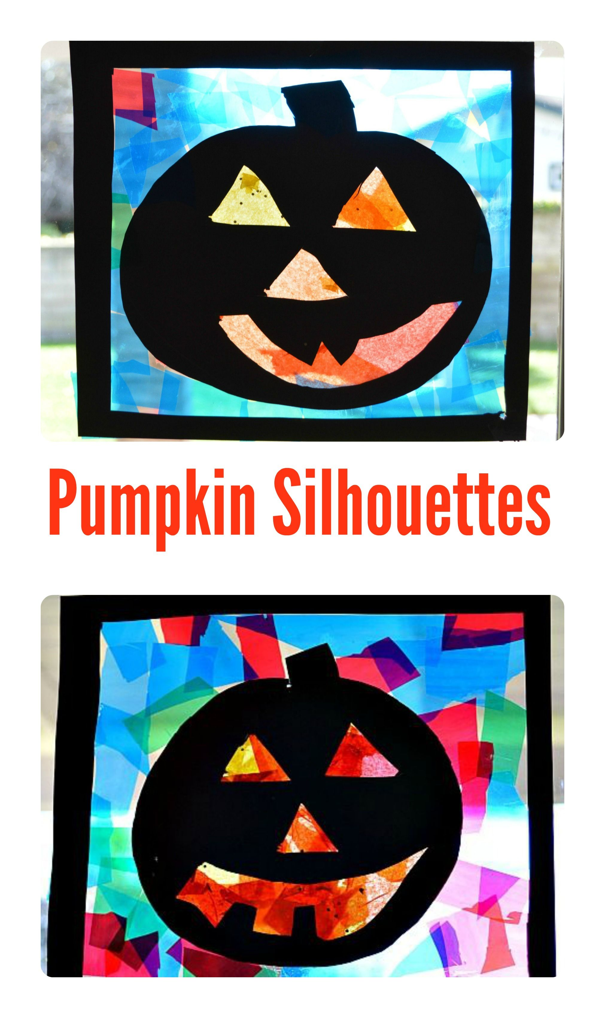 Pumpkin Crafts For Kids Jack O Lanterns Silhouettes