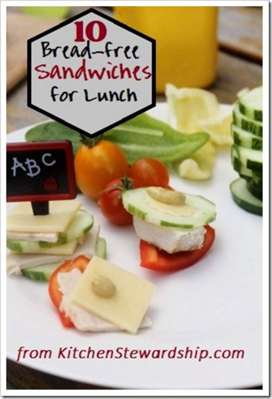 Tired of sandwiches for lunch? 10 new ideas for adults and kids with no bread - grain-free and gluten-free for a healthy packed lunch on the go.