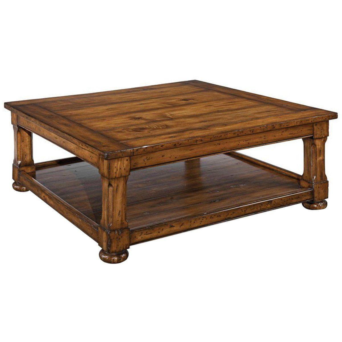 Woodbridge Furniture Tudor Tail Table Large Square