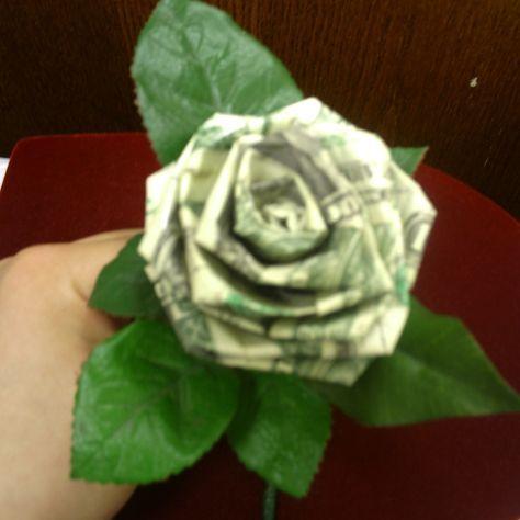 Money Rose Origami Lei Pinterest Money Rose Origami And
