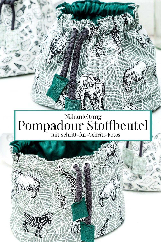 Instructions de couture: Sac en tissu Pompadour – photos étape par étape   – DIY #blogstlove