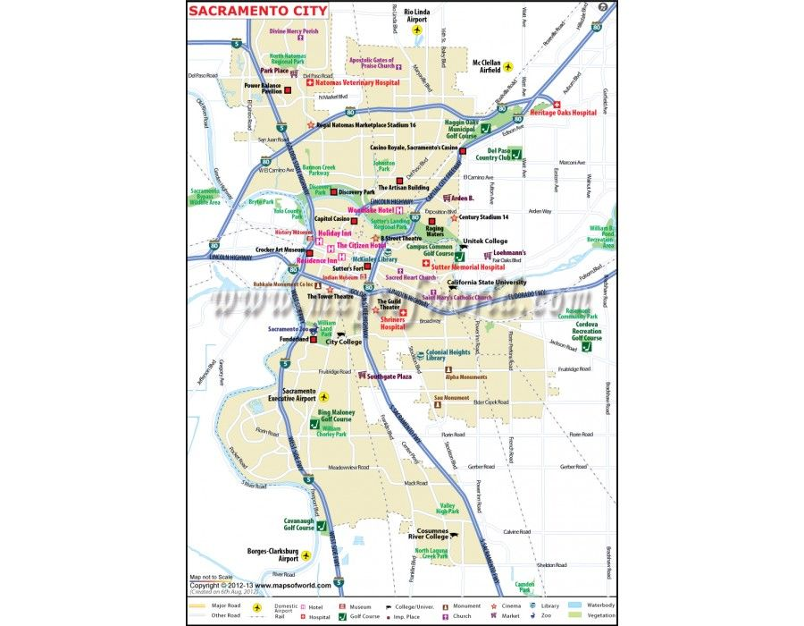Buy Sacramento City Map for Sale in Editable Vector Format ...