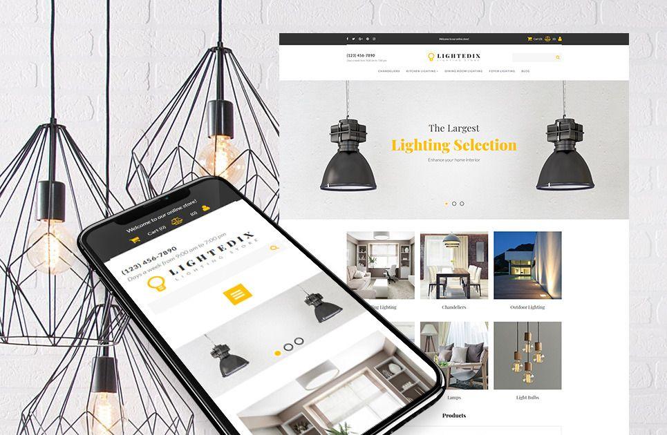Lighting Store Website Template for Light Company estore