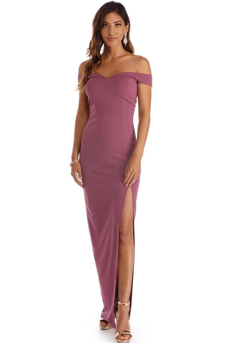 56148fec8325 FINAL SALE -Marianne Mauve Off Shoulder Sweetheart Dress