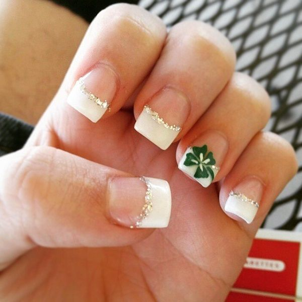 30 Four Leaf Clover Nail Art Ideas French Nails Pinterest Leaf