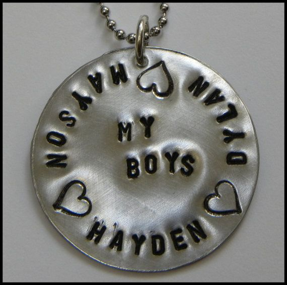 My Boys necklace by TaylordMetals on Etsy, $24.00
