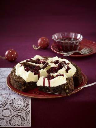 Weihnachtstorte Mit Gluhwein Kirschen Rezept Backen Pinterest