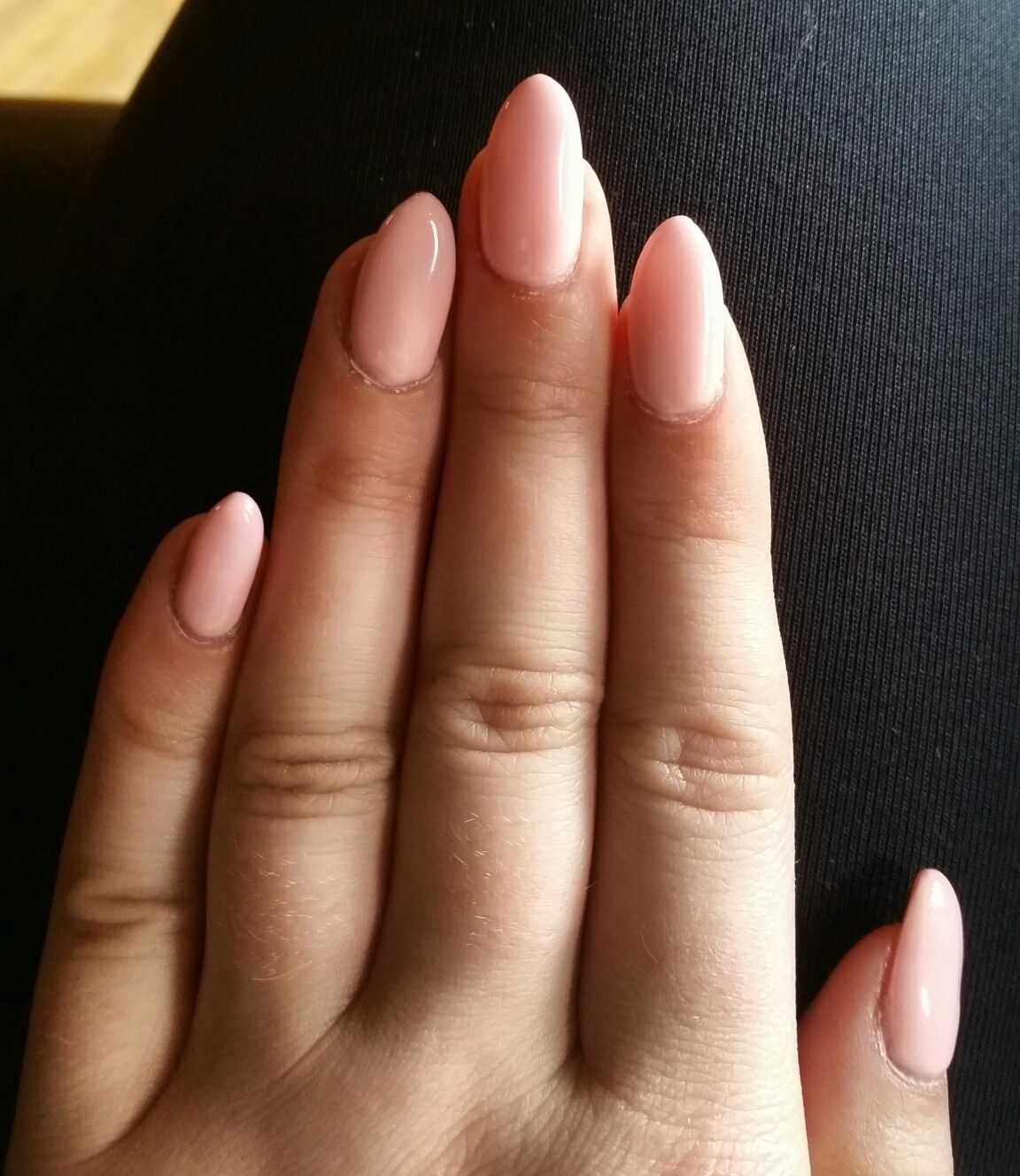Pale pink almond nails. Neutral gel nails. Nails by Ailesh   Nails ...