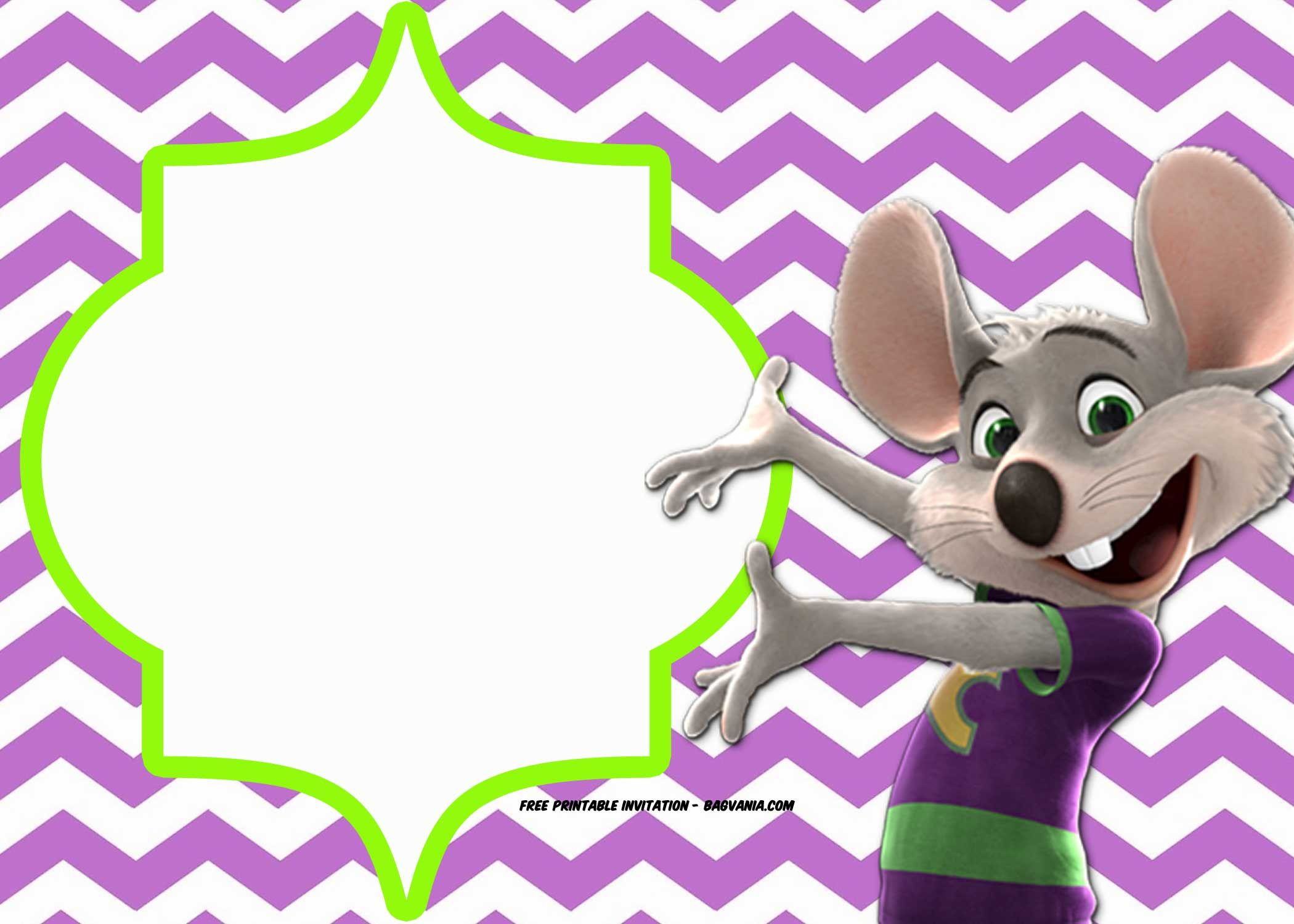 Download Now FREE Printable Chuck E Cheese Invitation Templates