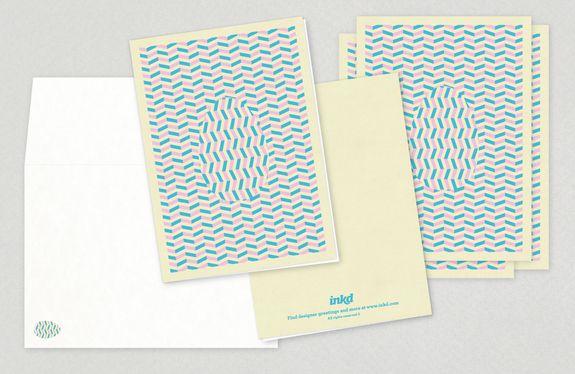 Hidden Egg Easter Greeting Card - geometric patterned easter egg - greeting card template