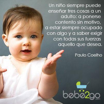 Niños Ninios Paulocoelho Frases Bebe Bebes Frases Del