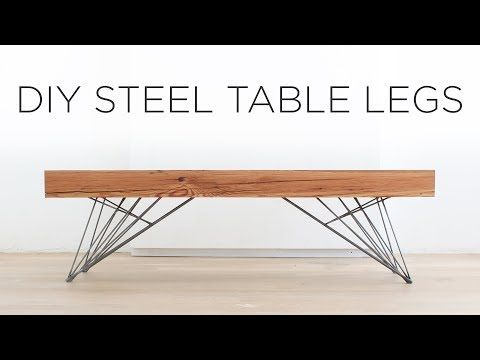 Amazing DIY Steel Table Legs | How To Weld Hair Pin Style Legs   YouTube
