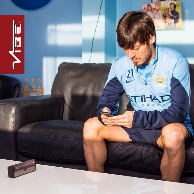 Superstar David Silva of Manchester City and Spain here playing about with VIBE products #DavidSilva #MCFC #Spain