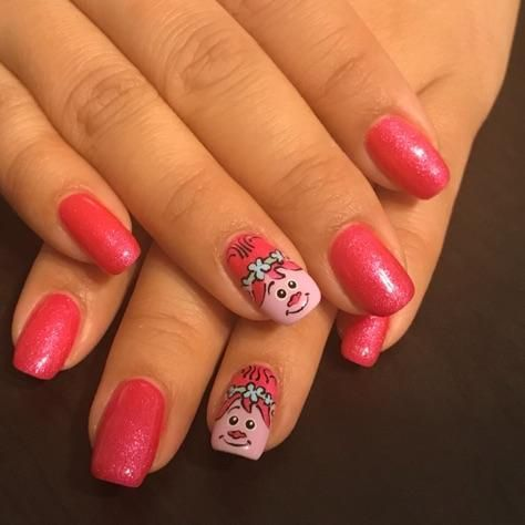 Love My Princess Poppy Nails From Mike At City Nails City Nails Nails Nail Art