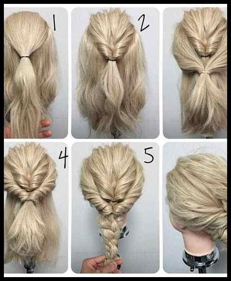 60 Easy Step By Step Hair Tutorials For Long Medium And Short Hair Frisuren Tutorials Long Hair Styles Up Dos For Medium Hair Simple Wedding Hairstyles