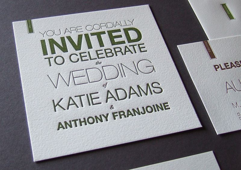 Invitation from Thomas Printers Letterpress in Carlisle PA