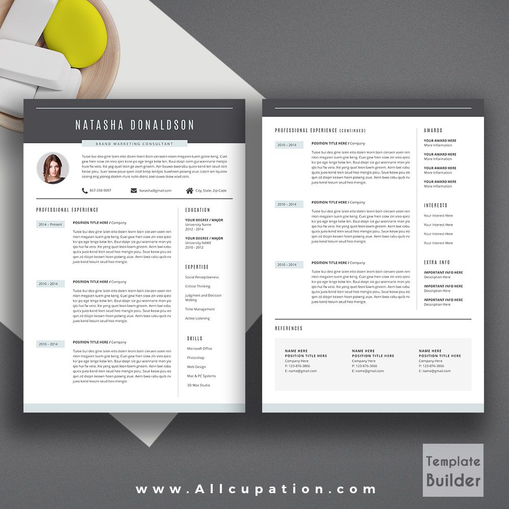 Title Page For Resume Professional Resume Template Creative Cv Template Cover Letter .