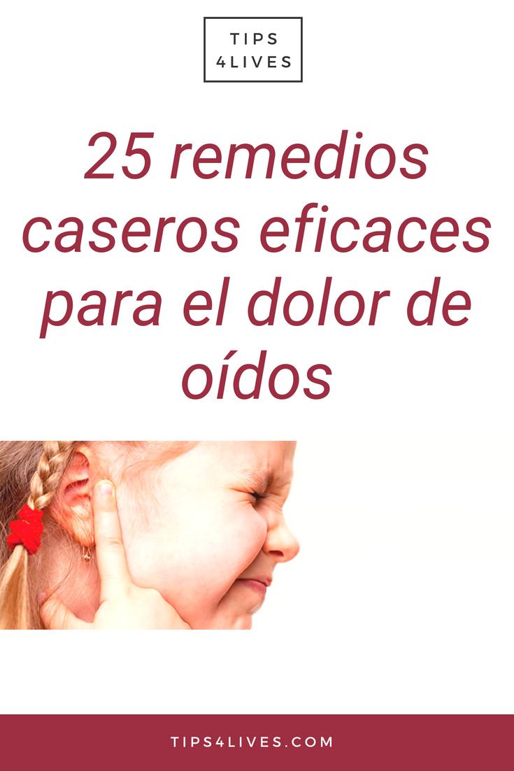 remedio casero para el dolor de oreja