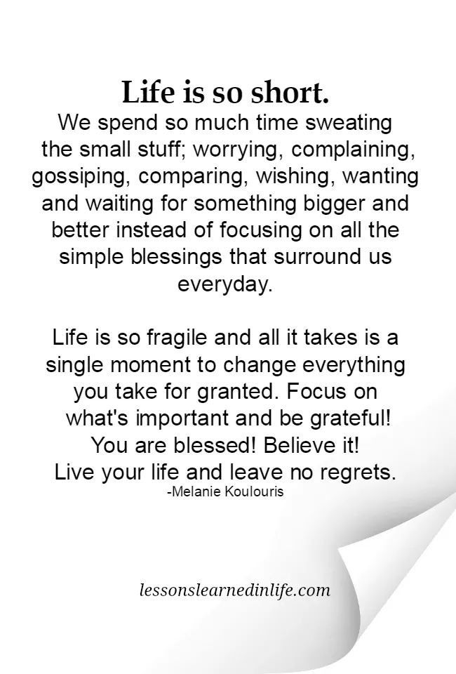 Life Is Short Granted Quotes Life Quotes Words