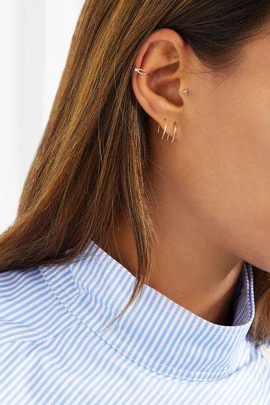Sarah & Sebastian Stone Aura 14-karat Gold Diamond Earrings Nzf7gOlCGP