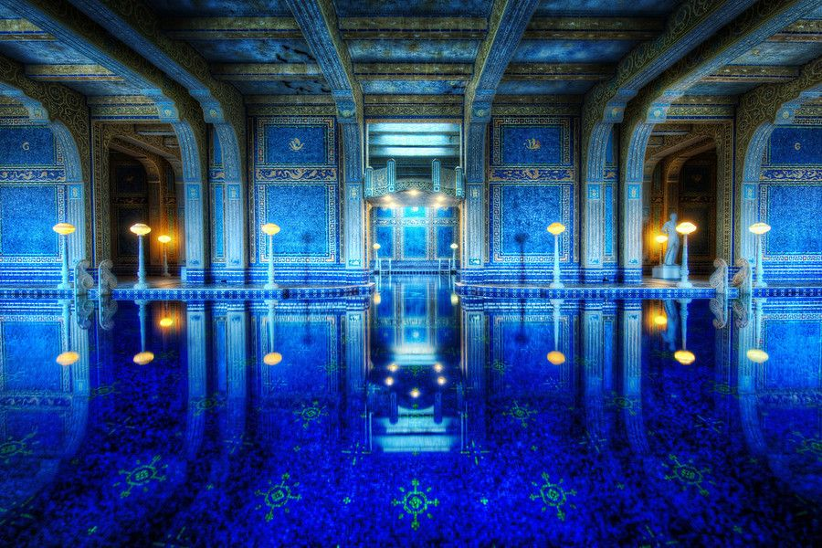 The Private Pool in the Hearst Castle in California