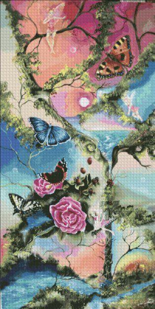 Chart Counted Cross Stitch Patterns Needlework DIY DMC Color Swan Lake 2