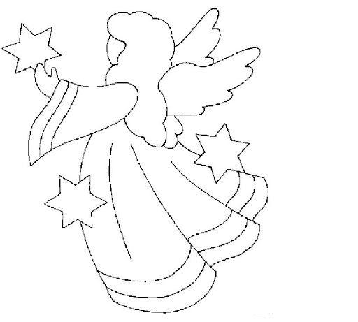 Dibujos Y Plantillas Para Imprimir Angelitos Apliques De Navidad Acolchado De Navidad Manualidades