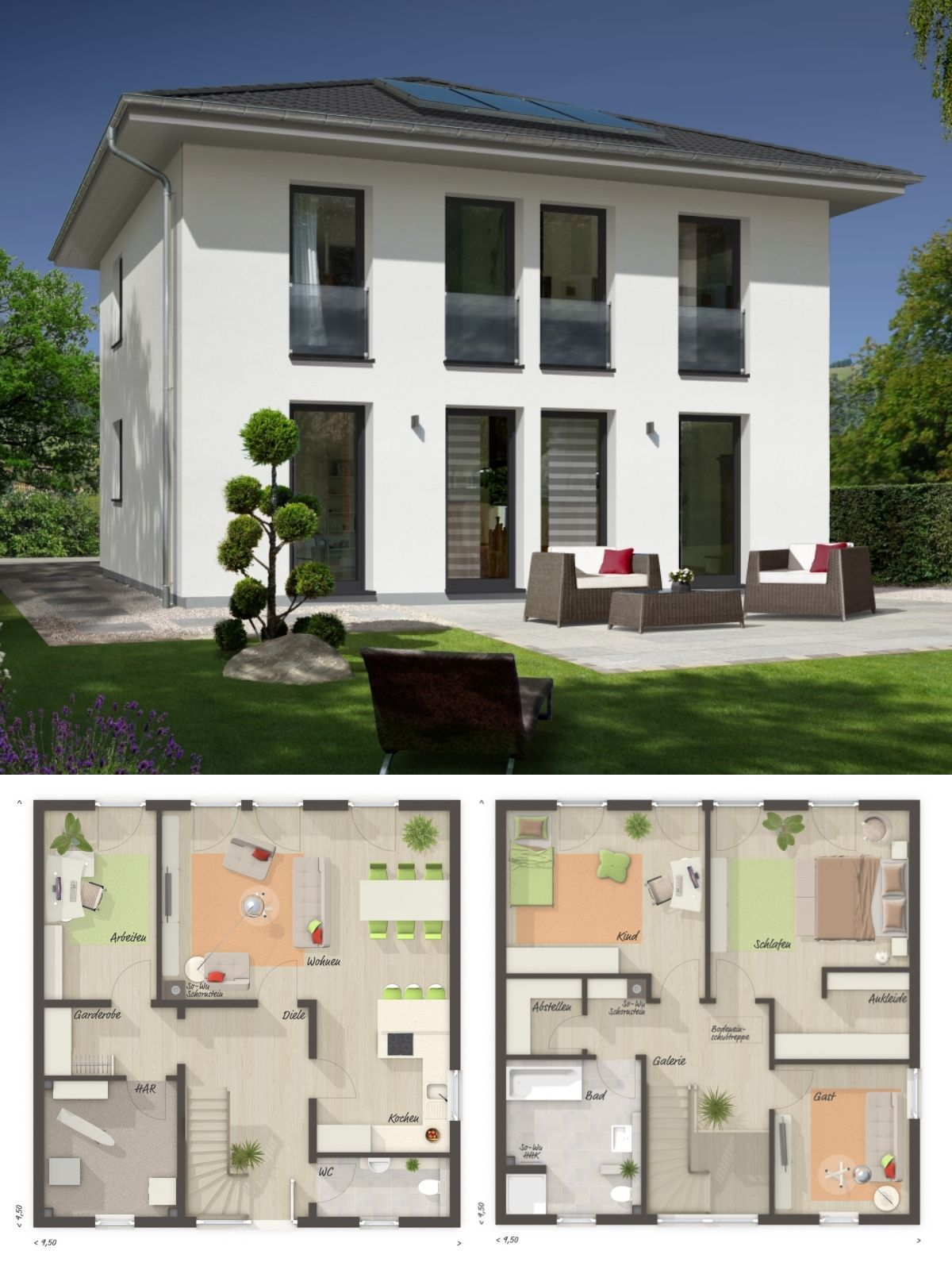 Small Villa Modern European Style Architecture Design