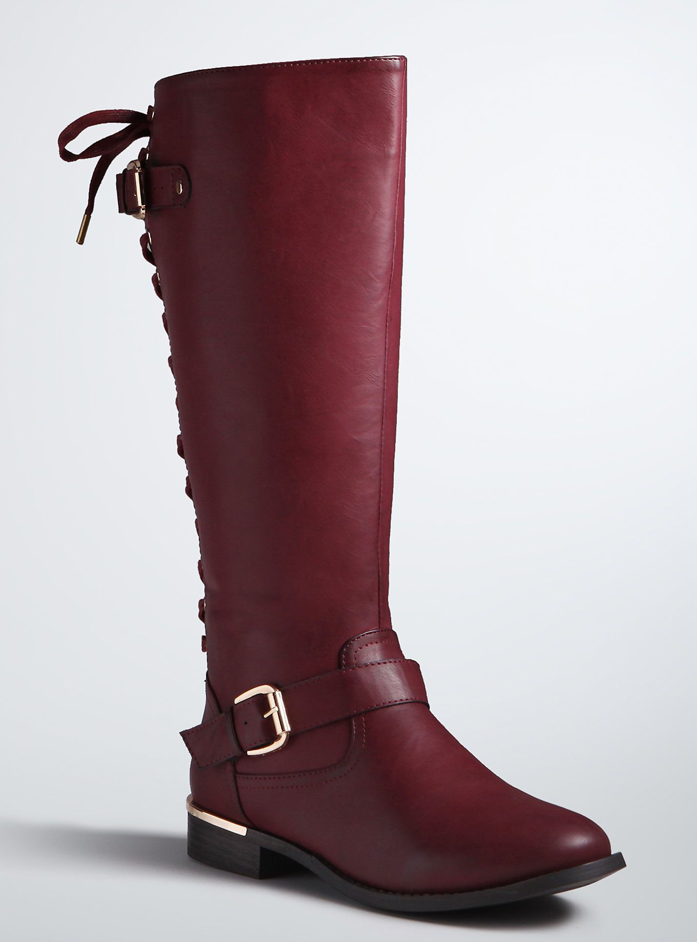 3dac541d806 Lace Up Back Knee Boots (Wide Width   Wide Calf) in 2019