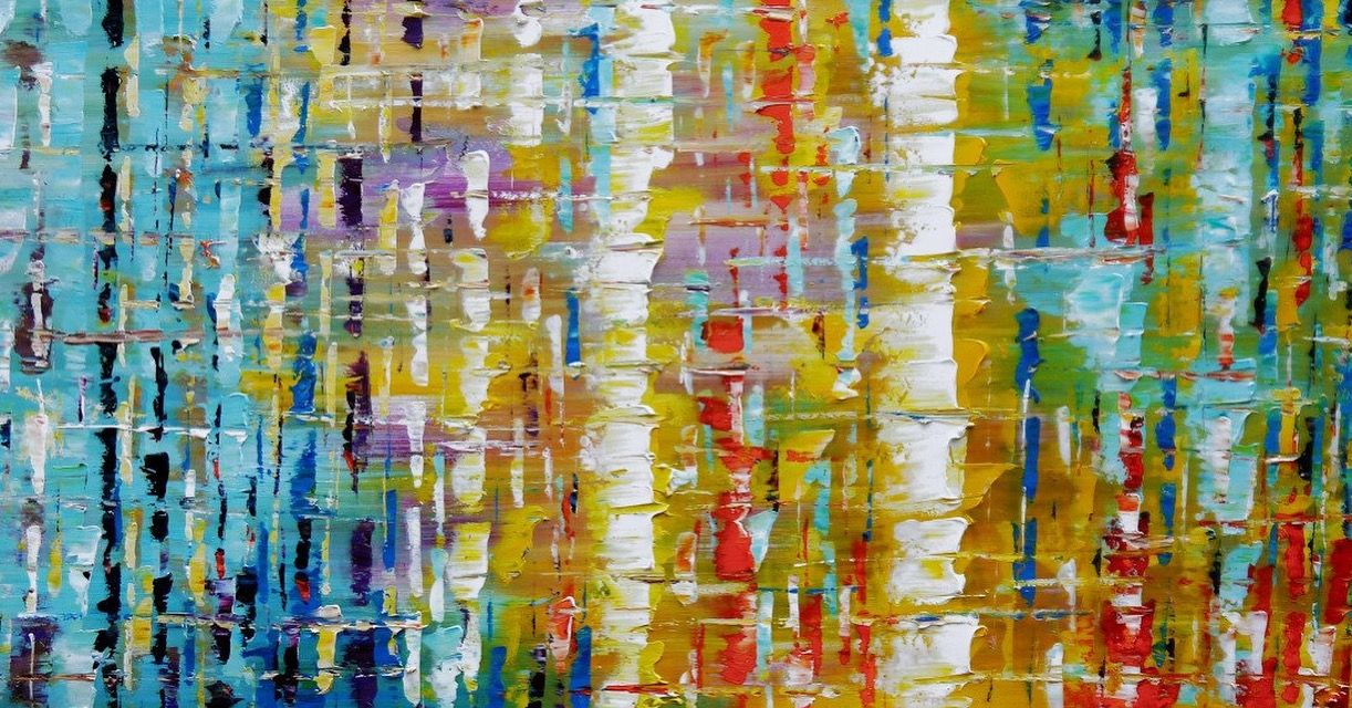 Large Original Oil Painting On Canvas Huge Abstract Painting Vivid ...