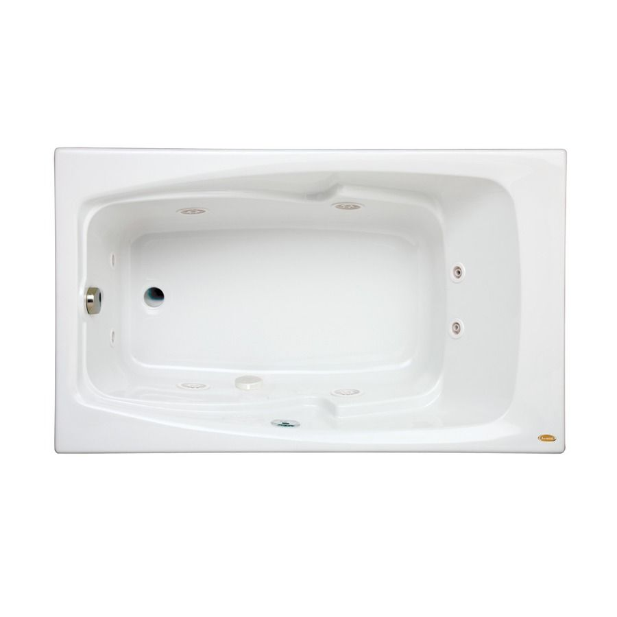 Jacuzzi Cetra White Acrylic Rectangular Whirlpool Tub (Common: 36-In ...