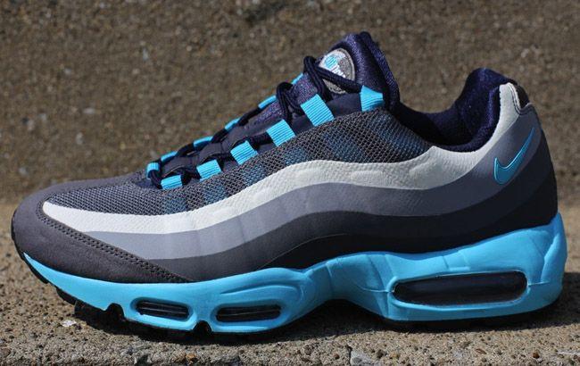 Img 7792 1024X1024 Nike Air Max 95 No Sew Gris Gamma Bleu