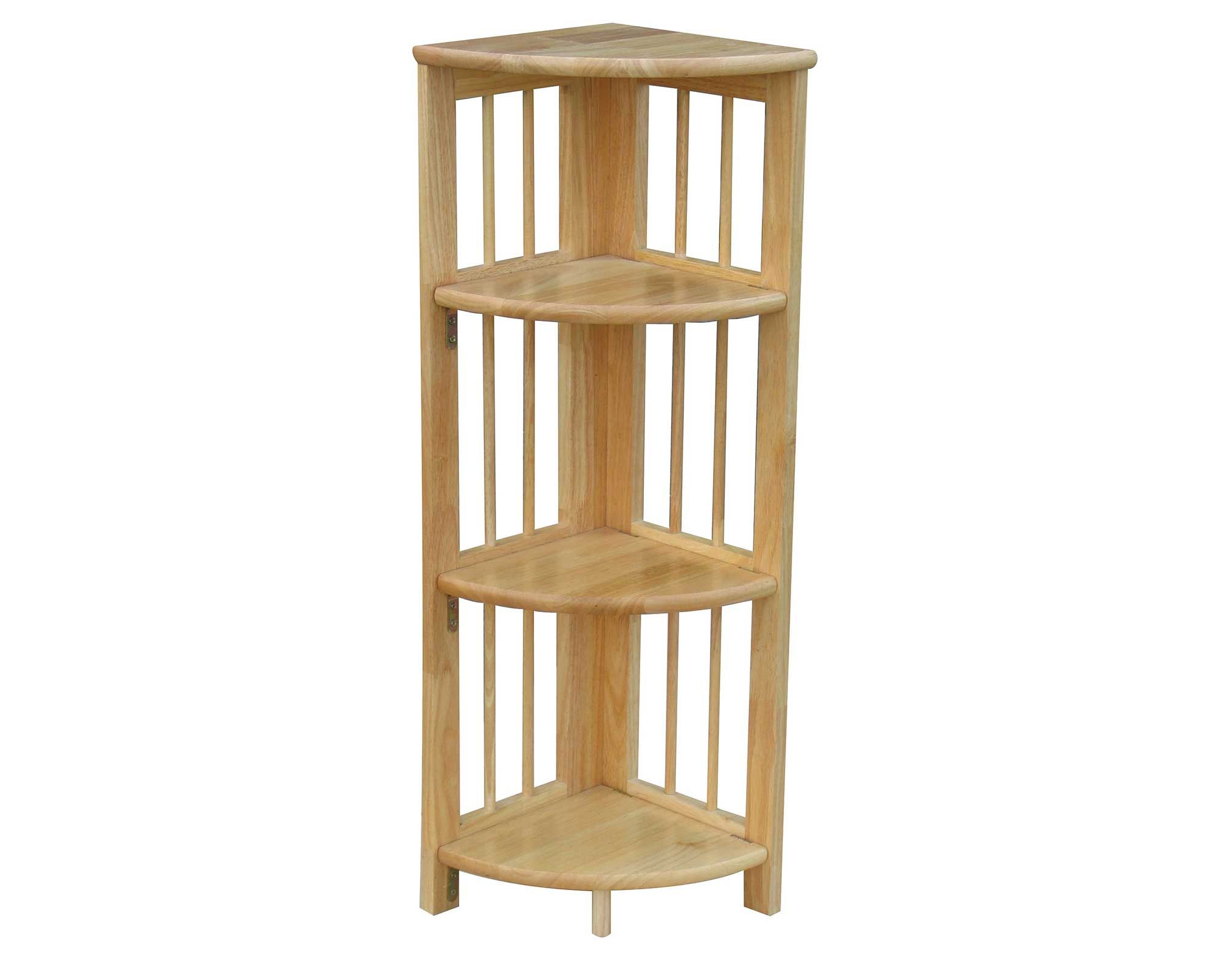 Fancy folding bookcase marvelous bookcase folding hardwood keep found it at wayfair 4 shelf corner folding bookcase in natural amipublicfo Image collections