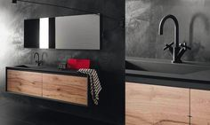 Meuble Sous Vasque Stocco Iks Noir Et Bois Vintage Meuble Salle De Bain Meuble Sous Lavabo Ikea Meuble Sous Vasque