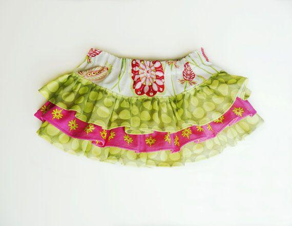 Shapla. Ruffle Skirt pattern. PDF tutorial. childrens e-book, 0-3 ...
