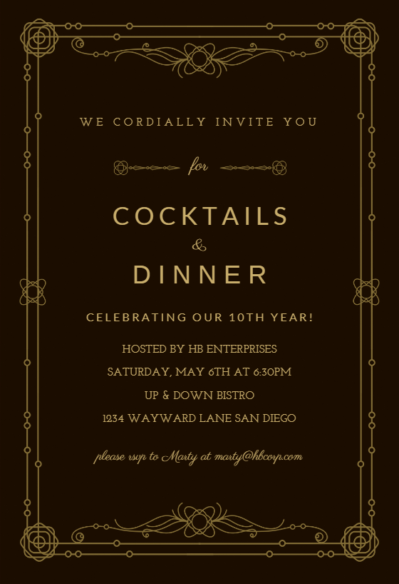 Classic Border Dinner Party Invitation Template Free Greetings Island Dinner Party Invitations Party Invite Template Mystery Dinner Party