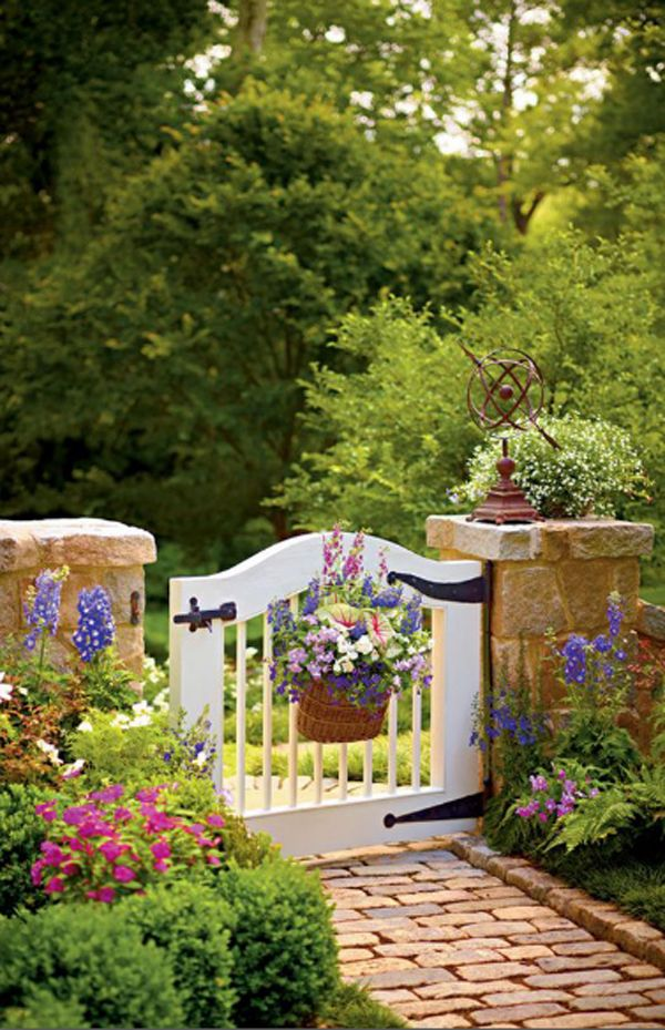 25 Most Wonderful Garden Gates With Nature Inspired  Home Design And Interior