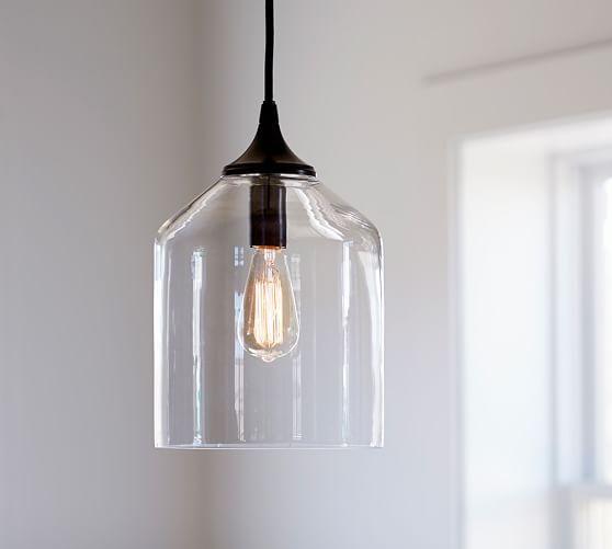 Pottery Barn Light Fixture: City Glass Pendant