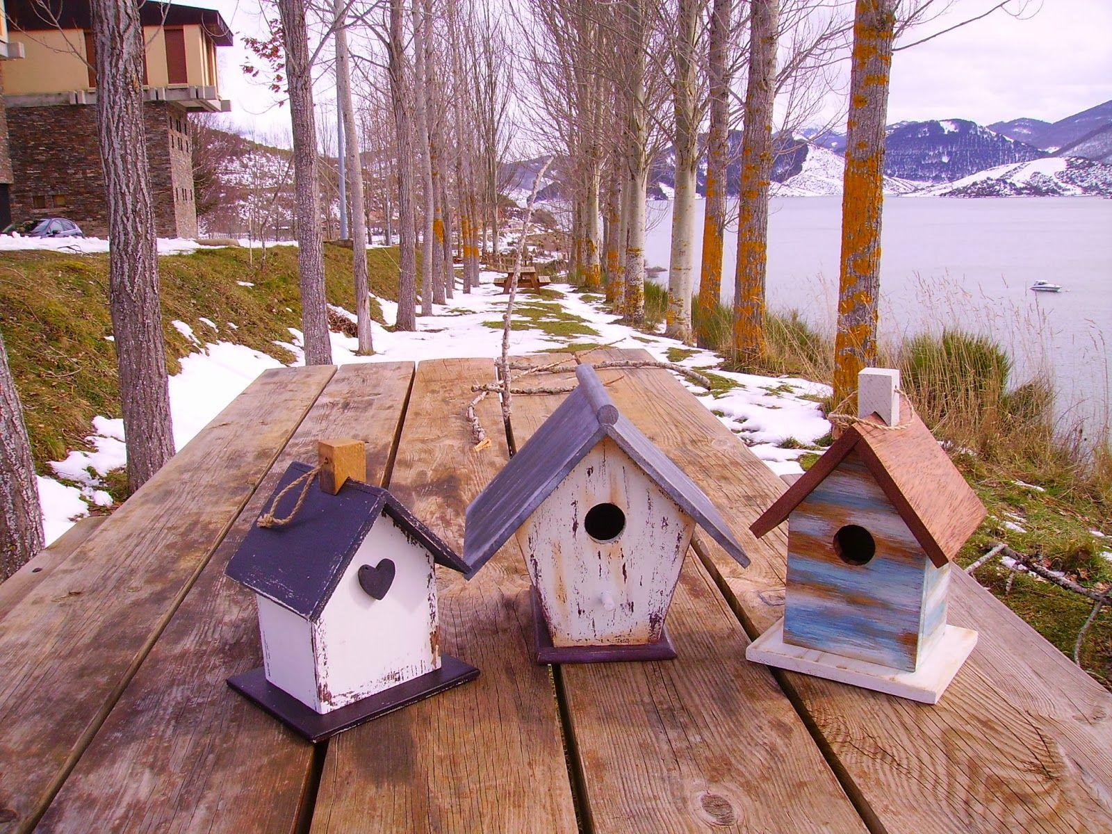 Retazos de madera casitas de pajaros pajareras for Casitas de madera