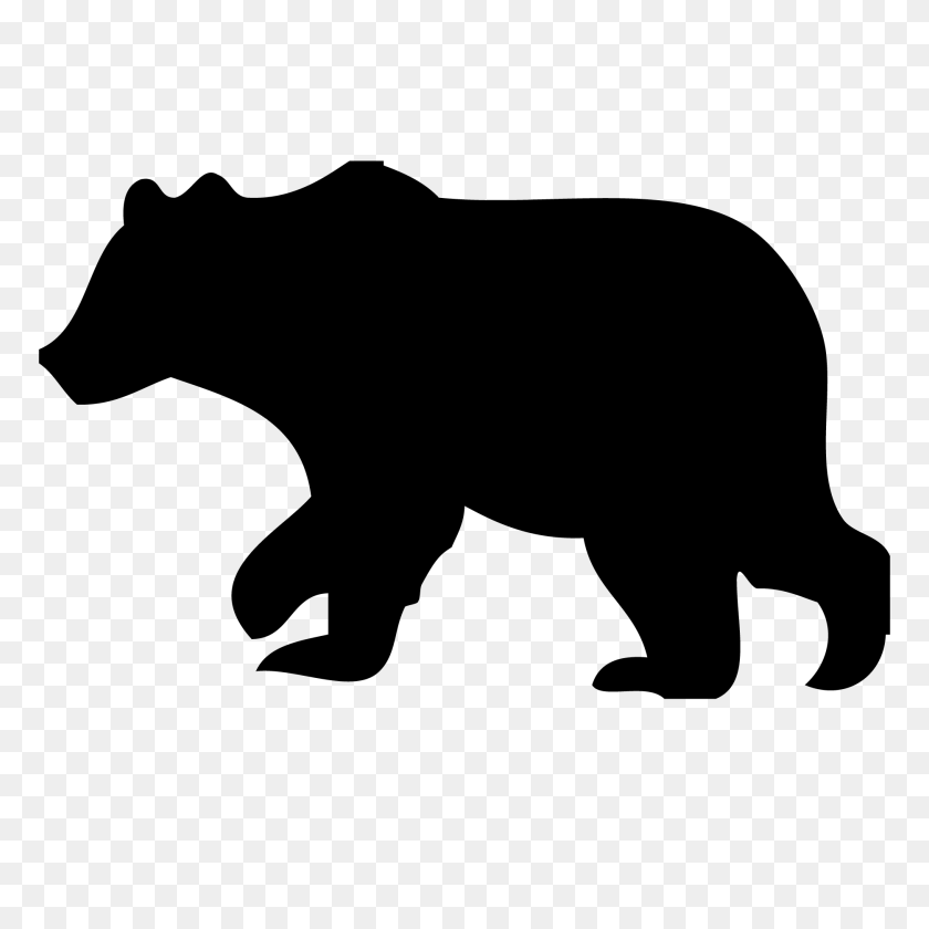 Grizzly Bear Silhouette Vector Free Download Best Grizzly Bear Silhouette Vector On Clipartmag Com Bear Silhouette Bear Stencil Animal Silhouette