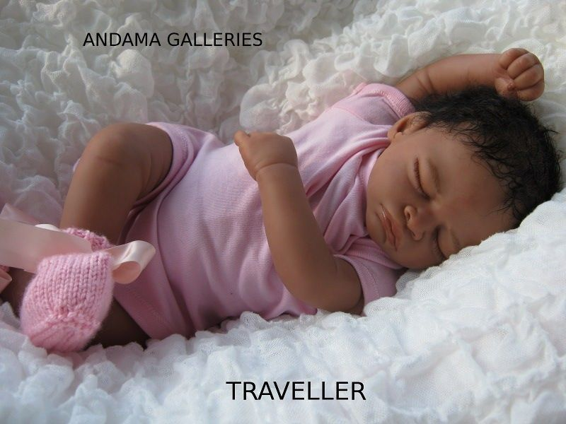 TRAVELLER, baby mannequin created at Andama Galleries the home of Reborn dolls Australia