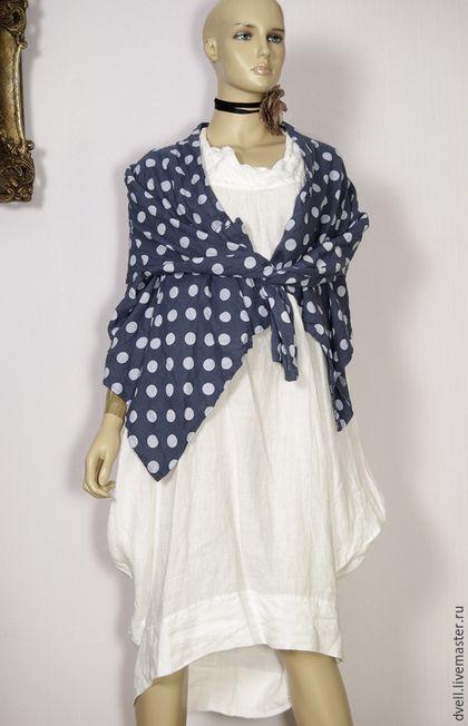Купить или заказать платье бохо + жакет горох гламур в интернет-магазине на Ярмарке  Мастеров. Платье плюс жакет Бохо .Выполнено из льна,.натурального ... c9042086a4f