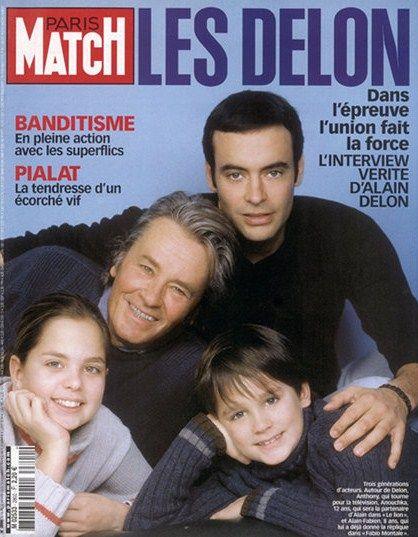 Alain With Kids Anthony Anouchka Alain Fabien Alain Delon Movie Stars Celebrity Families