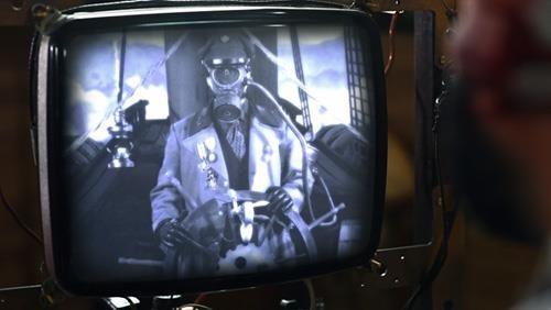 A test shot for the effects of the communique TV device on Captain's desk for Ep 4.  https://sphotos-b.xx.fbcdn.net/hphotos-ash3/559421_376857752391542_619791887_n.jpg http://www.day304.com/dirigibledays.html Salazar Strega