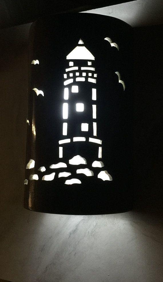 Customcutlighting Ceramic Wall Lights Nautical Lighting Beach House Lighting