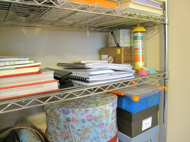 Chrome shelving as craft storage #TRINITYproducts #spon